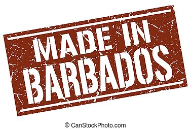 made in Barbados stamp