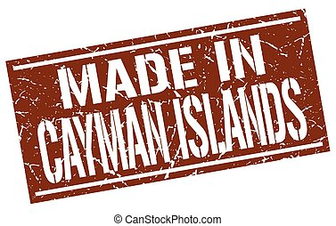 made in Cayman Islands stamp
