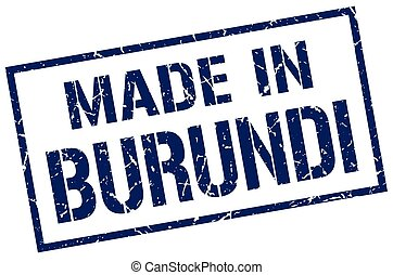 made in Burundi stamp