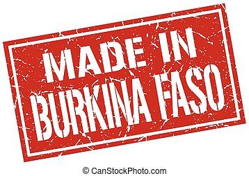 made in Burkina Faso stamp