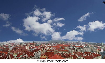 Prague roof tops , Czech Republic - Prague roof tops and Old...