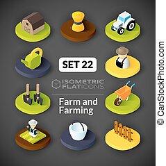 Isometric flat icons set 22 - Isometric flat icons, 3D...