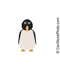 Funny penguin character - Penguin illustration as a funny...