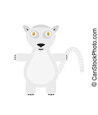 Funny lemur character - Lemur illustration as a funny...