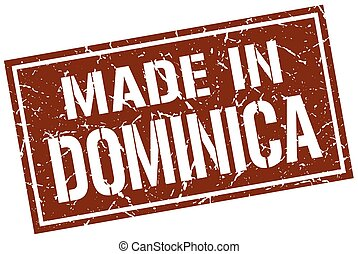 made in Dominica stamp