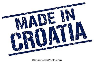 made in Croatia stamp