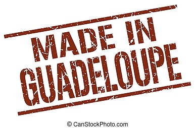 made in Guadeloupe stamp