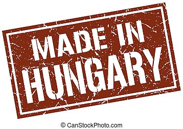 made in Hungary stamp