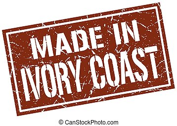 made in Ivory Coast stamp
