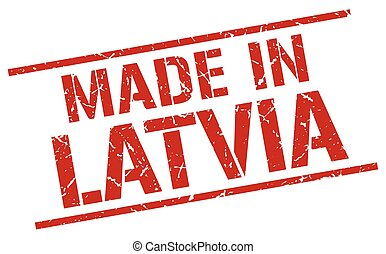 made in Latvia stamp