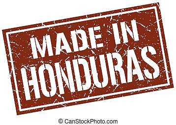 made in Honduras stamp
