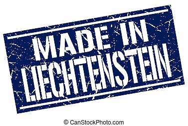 made in Liechtenstein stamp