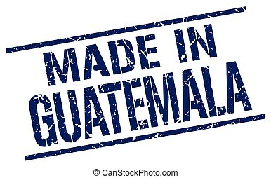 made in Guatemala stamp