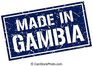 made in Gambia stamp