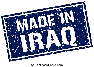 made in Iraq stamp
