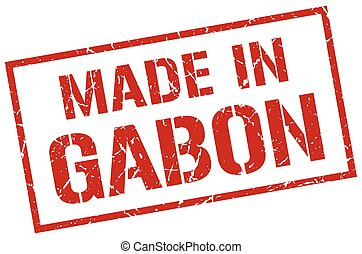 made in Gabon stamp