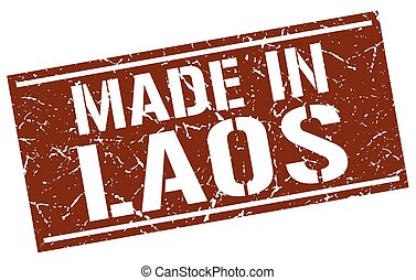 made in Laos stamp