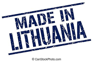 made in Lithuania stamp