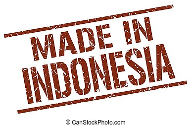 made in Indonesia stamp