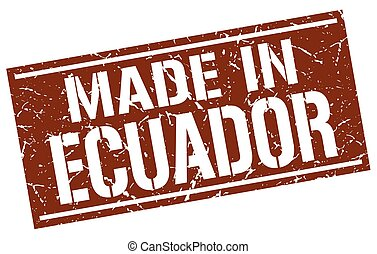 made in Ecuador stamp