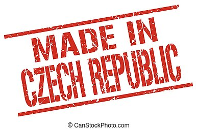 made in Czech Republic stamp