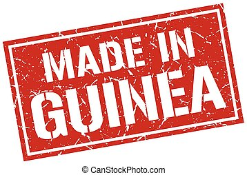 made in Guinea stamp