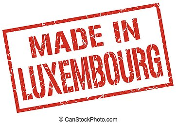 made in Luxembourg stamp