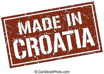made in Croatia stamp