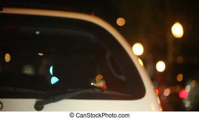 following a car at night