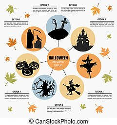 Halloween infographic template Flat icons Vector...
