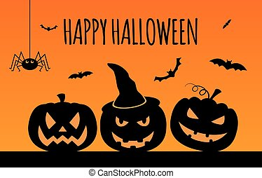 Halloween holiday graphic template Flat icons Vector...