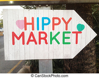 Direction to the hippy market