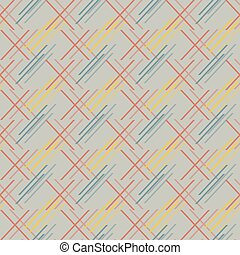 Abstract seamless pattern of colored oblique segments -...