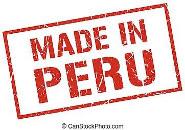 made in Peru stamp