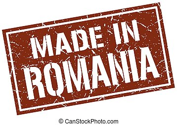 made in Romania stamp