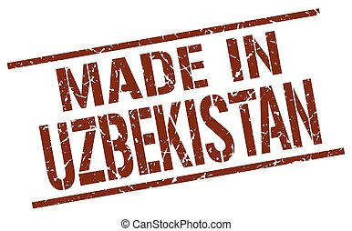 made in Uzbekistan stamp