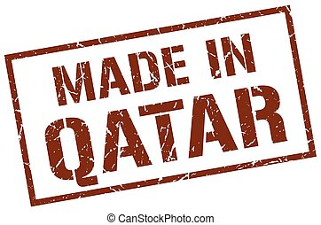 made in Qatar stamp