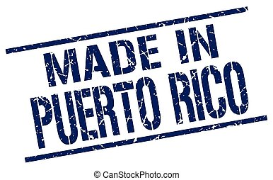 made in Puerto Rico stamp