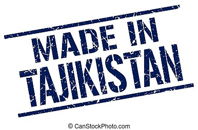 made in Tajikistan stamp