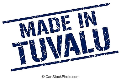 made in Tuvalu stamp
