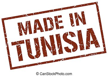 made in Tunisia stamp