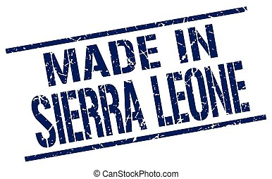 made in Sierra Leone stamp