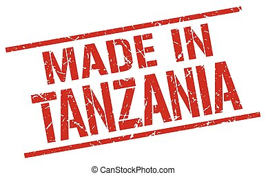 made in Tanzania stamp