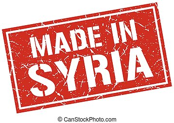 made in Syria stamp