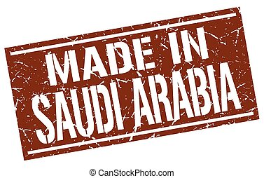 made in Saudi Arabia stamp