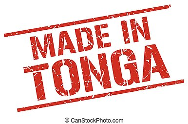 made in Tonga stamp