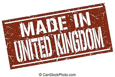 made in United Kingdom stamp