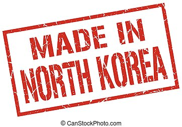 made in North Korea stamp