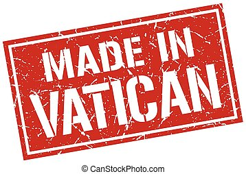 made in Vatican stamp