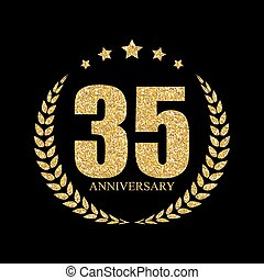 Template Logo 35 Years Anniversary Vector Illustration EPS10